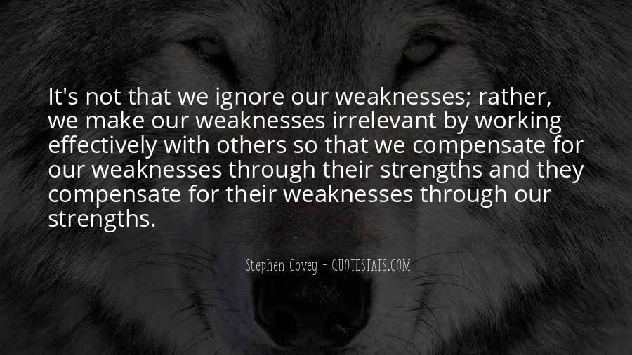 Quotes About Weaknesses And Strengths #253782