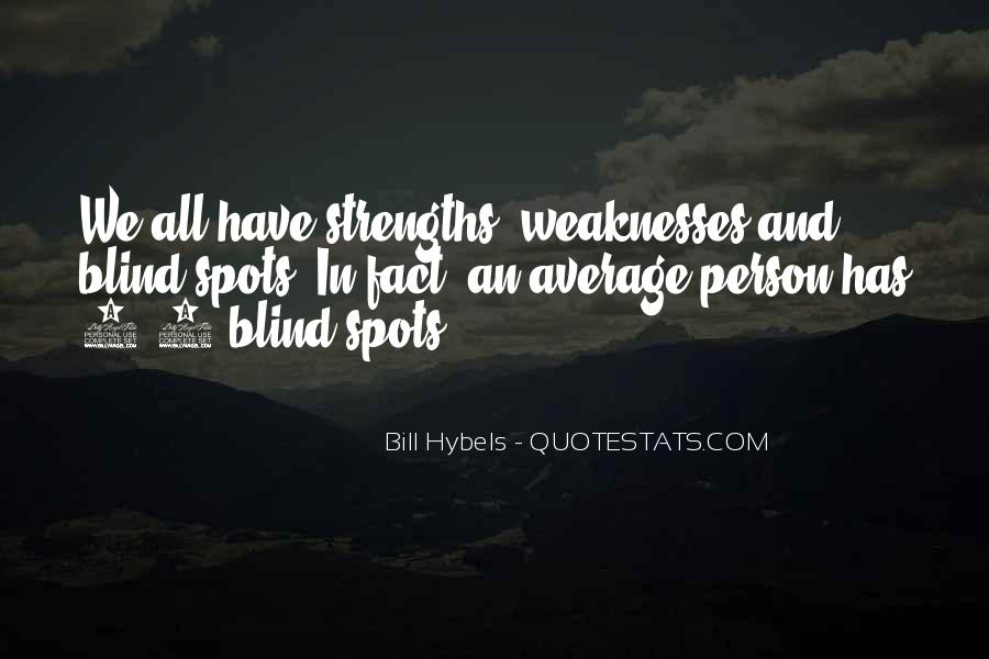 Quotes About Weaknesses And Strengths #344610