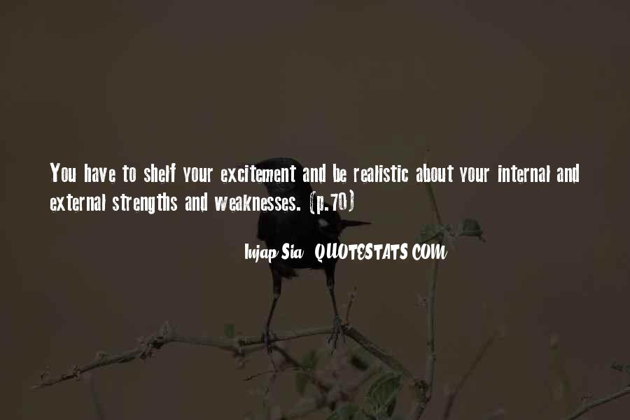 Quotes About Weaknesses And Strengths #351154