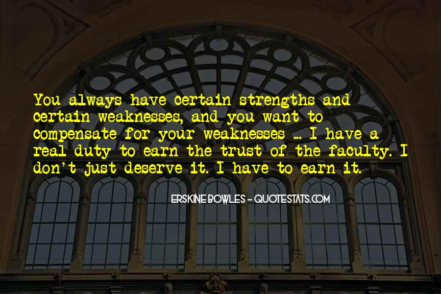 Quotes About Weaknesses And Strengths #387533