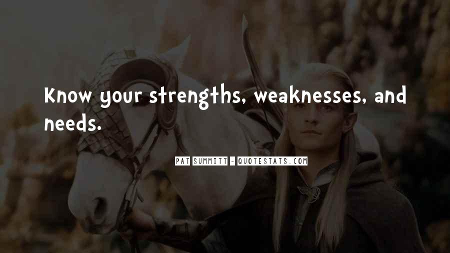 Quotes About Weaknesses And Strengths #519146