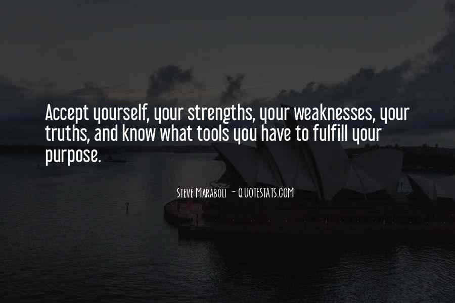 Quotes About Weaknesses And Strengths #725378