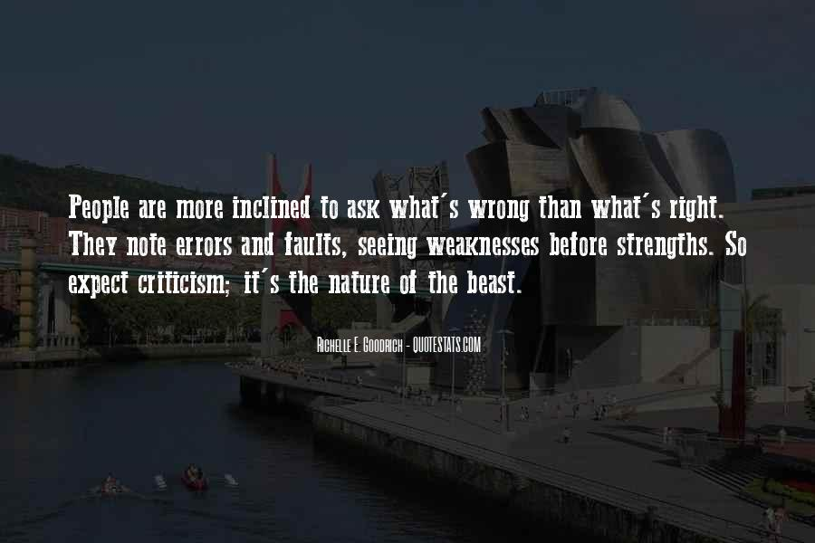 Quotes About Weaknesses And Strengths #82830