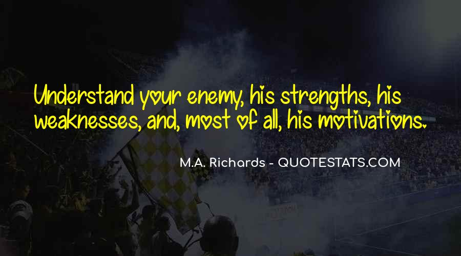 Quotes About Weaknesses And Strengths #836185