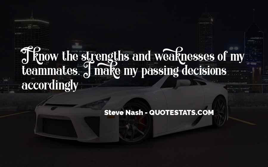 Quotes About Weaknesses And Strengths #900504