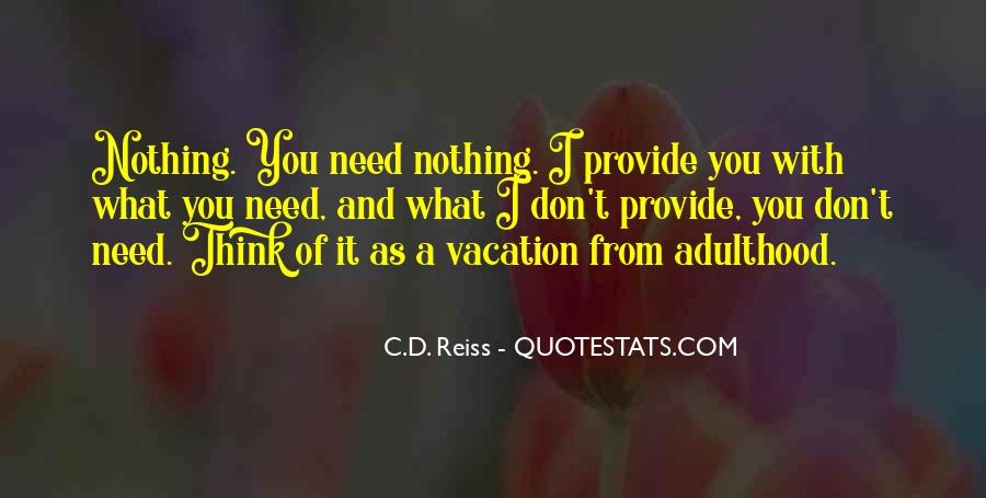 Quotes About A Vacation #133978