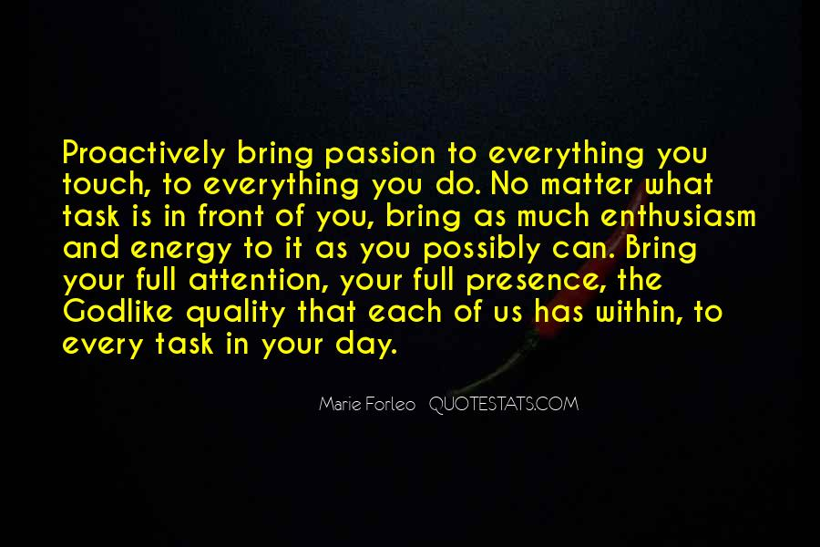 Quotes About Enthusiasm Passion #825063