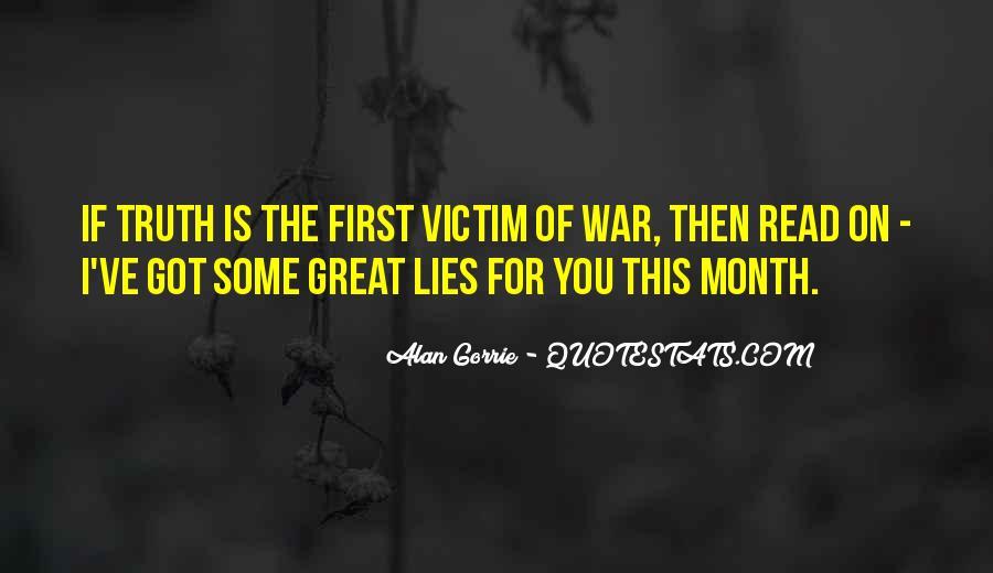 Victim Of Lies Quotes #10316