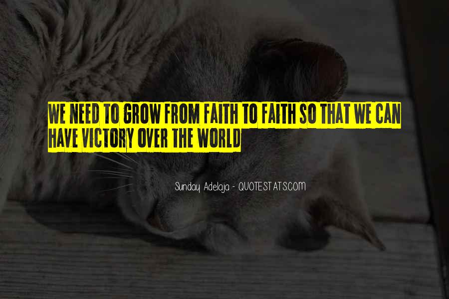 Victory Is Ours Quotes #11592