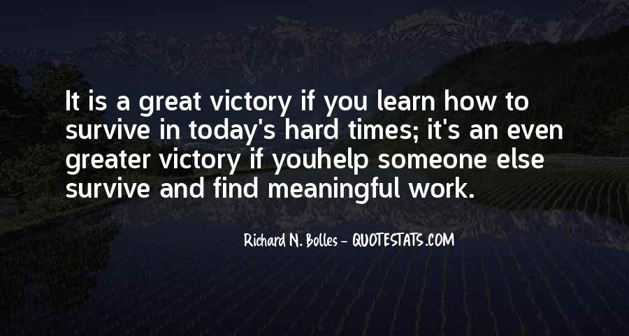 Victory Is Ours Quotes #1551