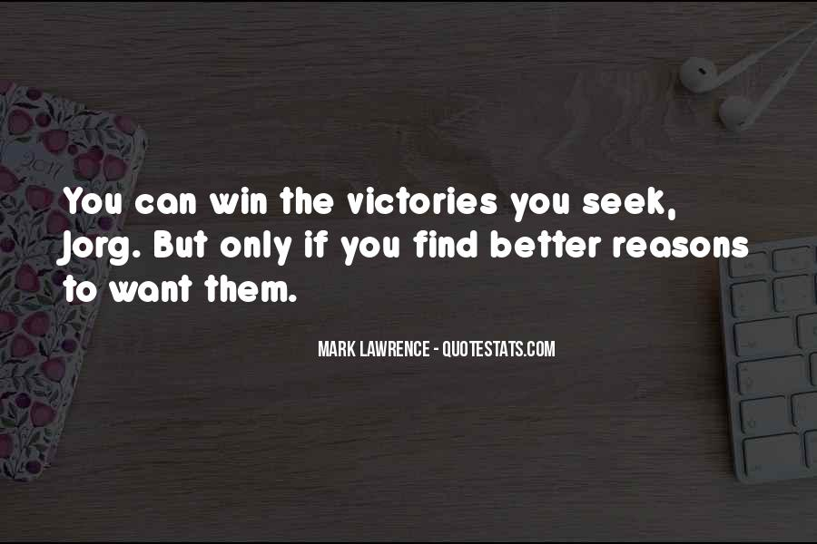 Victory Is Ours Quotes #21063
