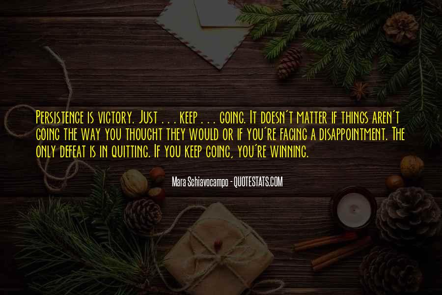 Victory Is Ours Quotes #2750