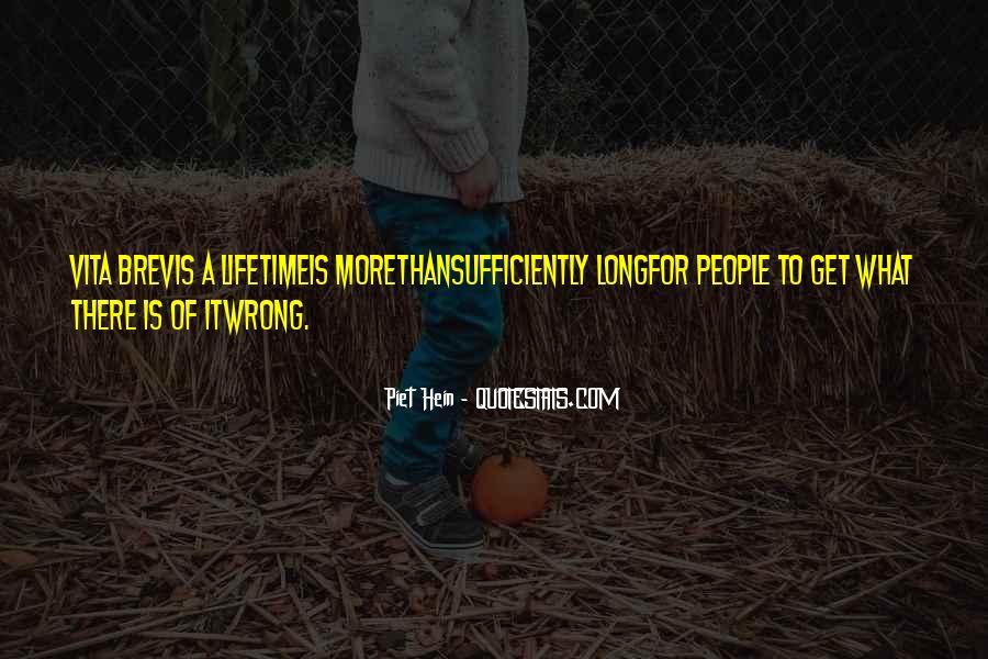 Vita Brevis Quotes #1337213