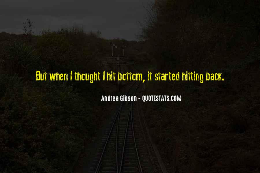 Quotes About Hitting The Bottom #872598