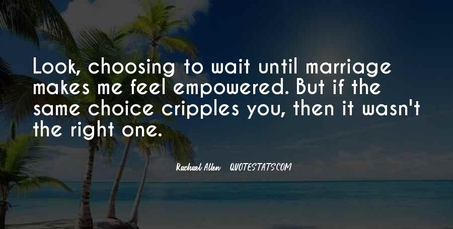 Wait Until Marriage Quotes #1384251
