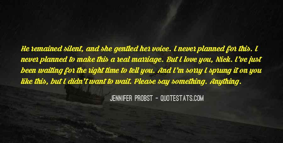 Wait Until Marriage Quotes #904948