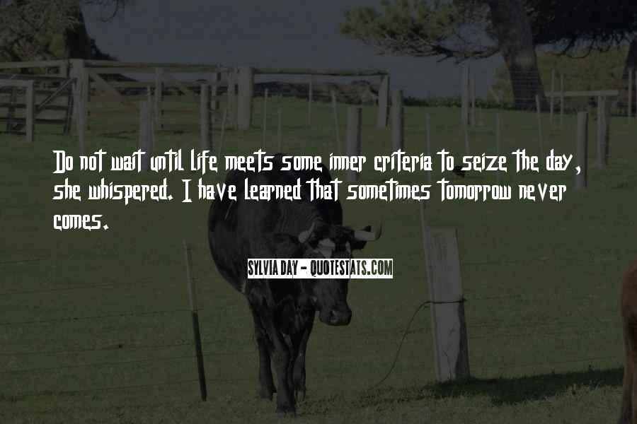Wait Until Tomorrow Quotes #969396
