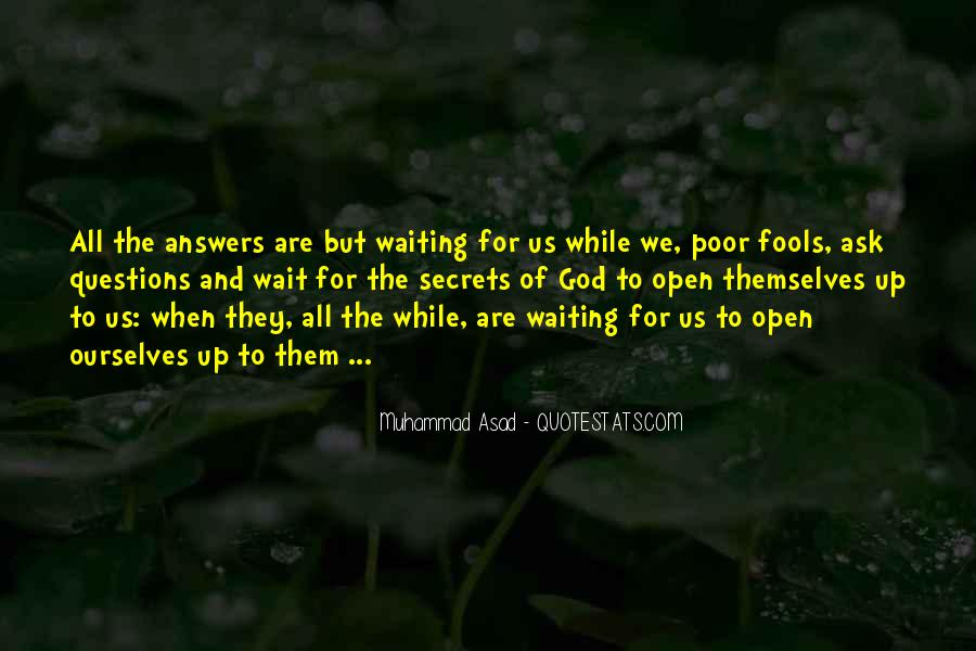 Waiting For Answers Quotes #1281380