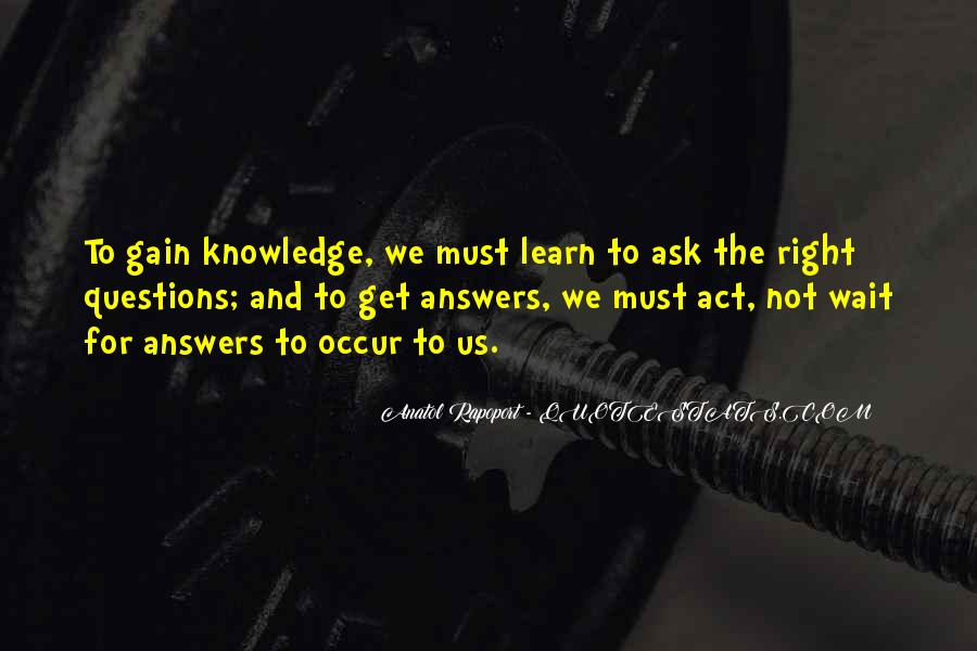 Waiting For Answers Quotes #276422