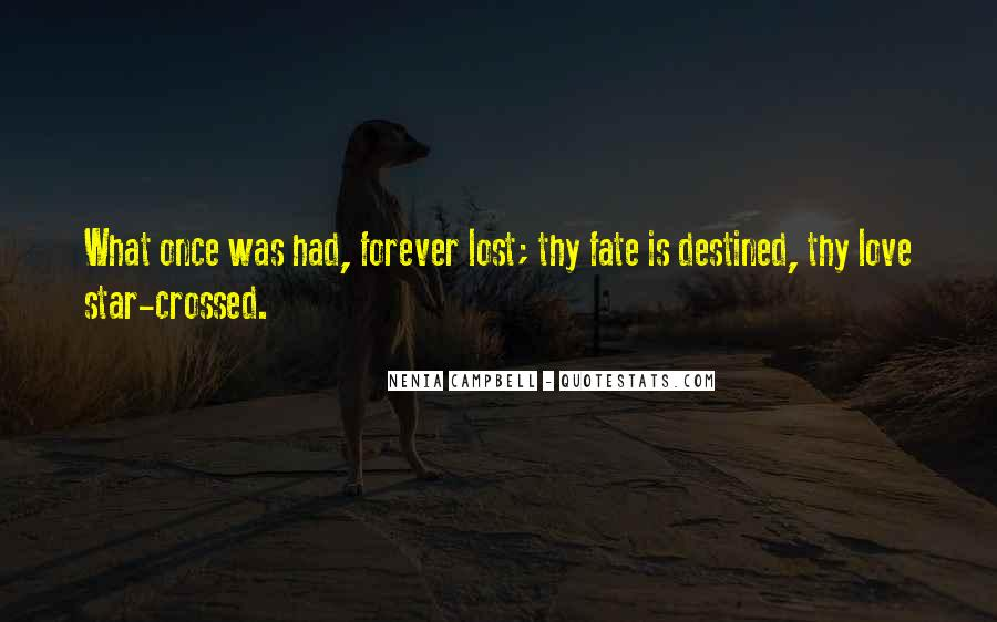 Quotes About Destined Lovers #1181837