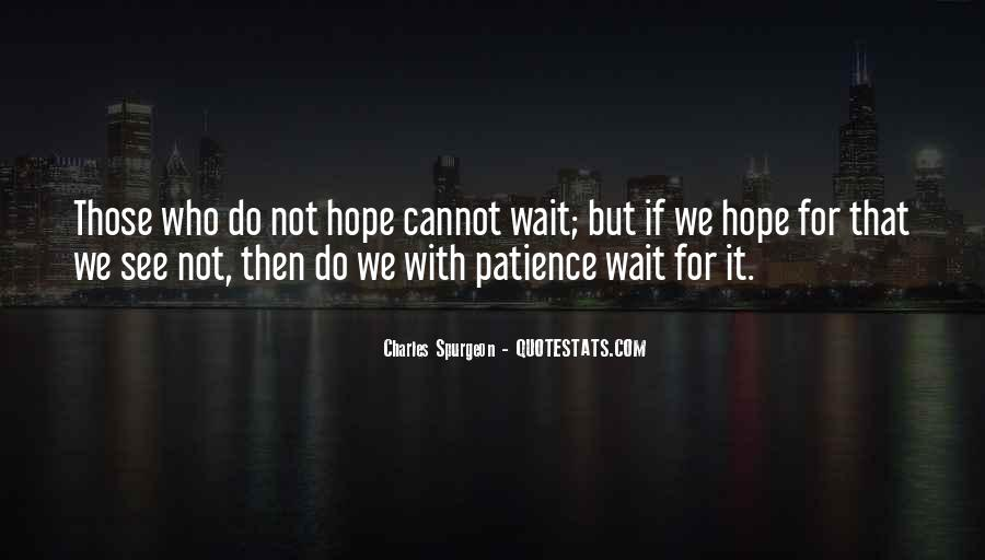 Waiting With Hope Quotes #1795128