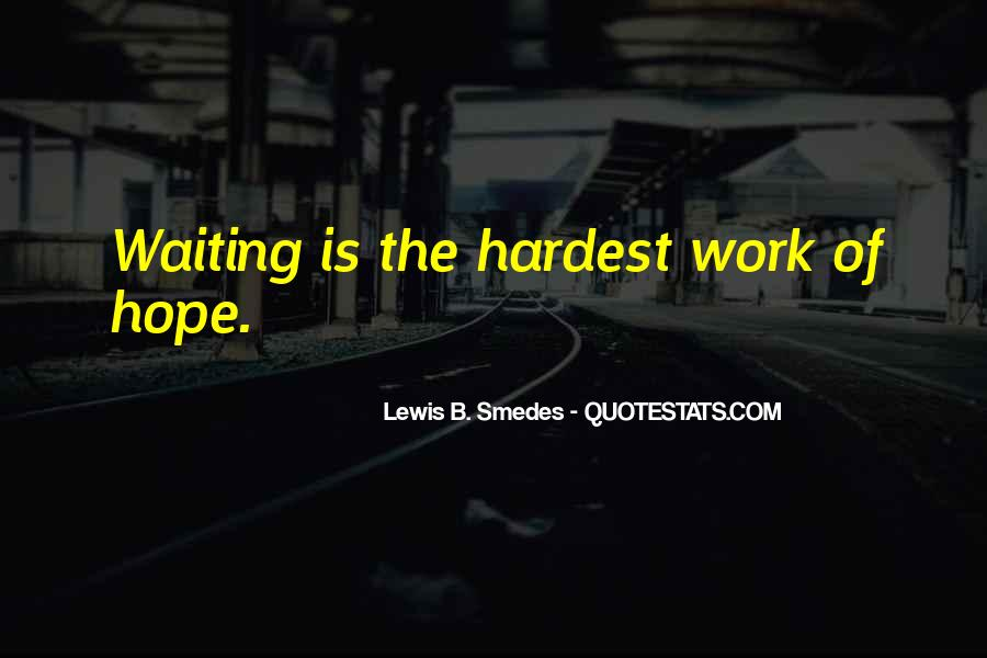 Waiting With Hope Quotes #86815