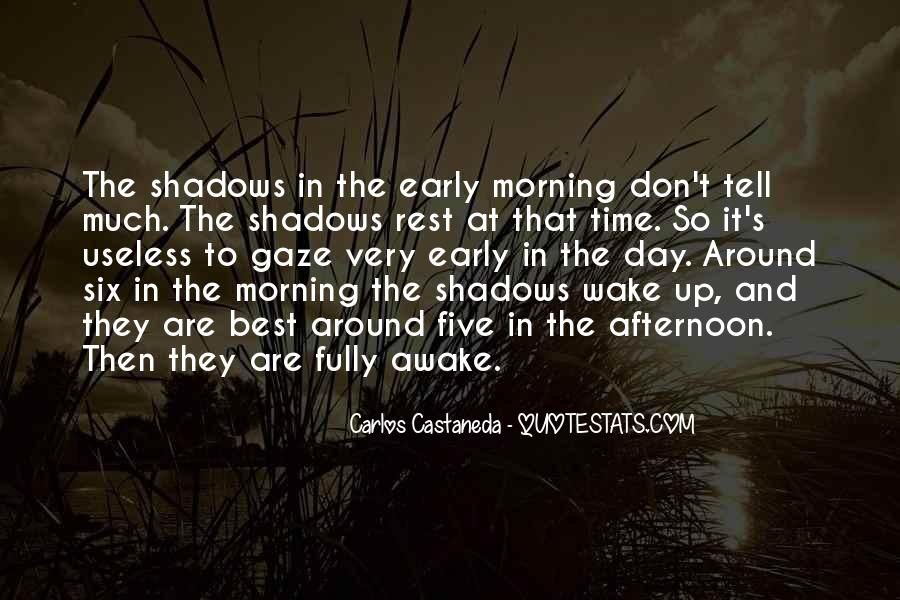Wake Up Early This Morning Quotes #1293134