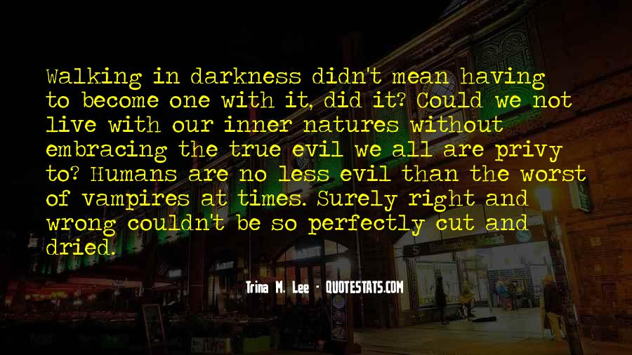 Walking Into The Darkness Quotes #1220873