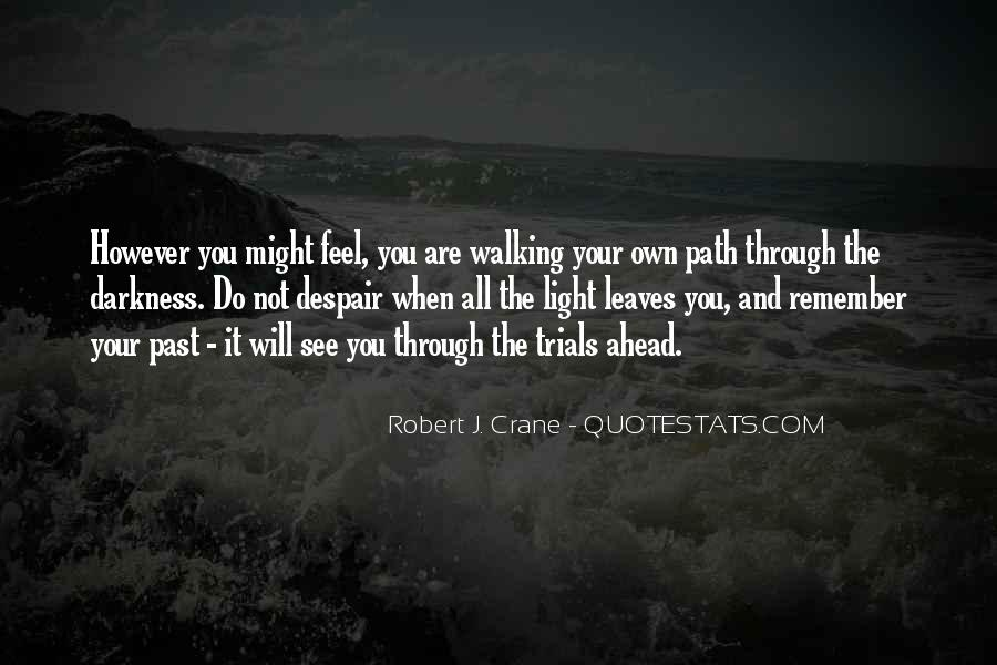 Walking Into The Darkness Quotes #1831832