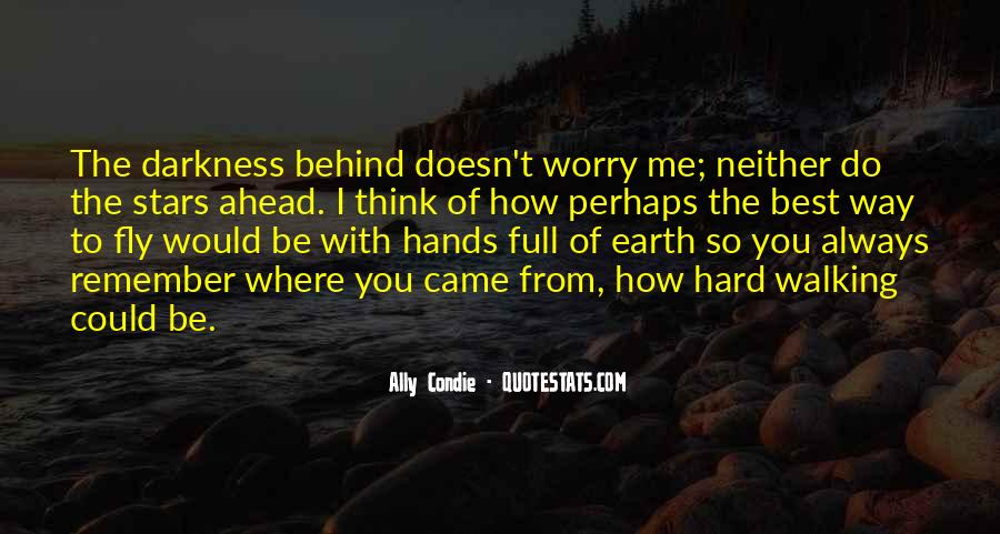 Walking Into The Darkness Quotes #848327