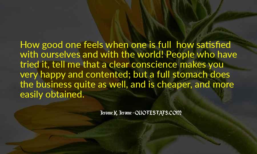 Quotes About Full Stomach #1721082