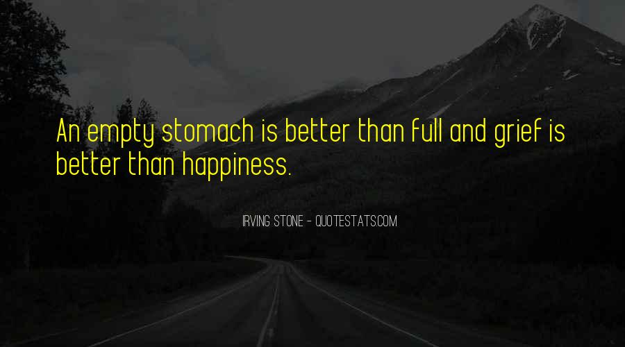 Quotes About Full Stomach #444764