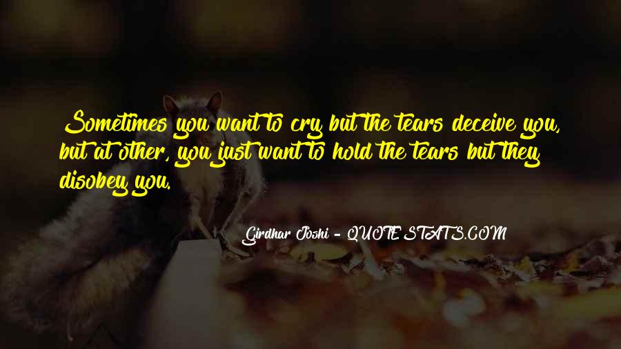 Want To Cry Quotes #180919