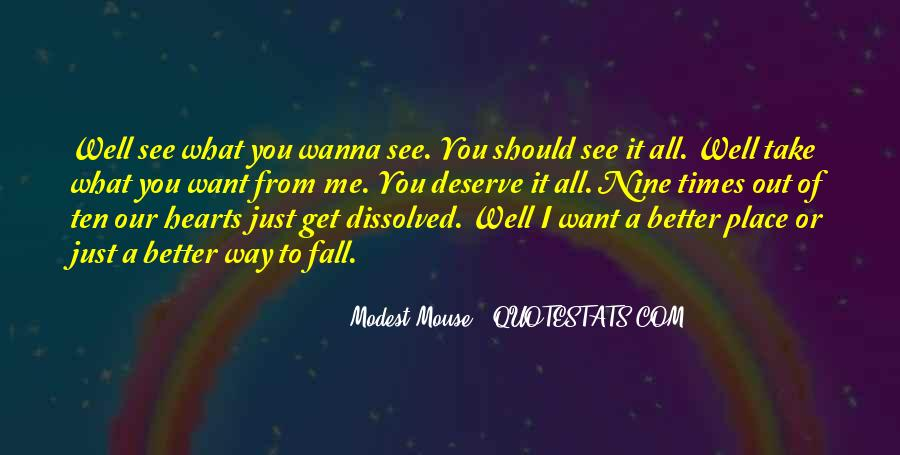 Want To See You Fall Quotes #1717176