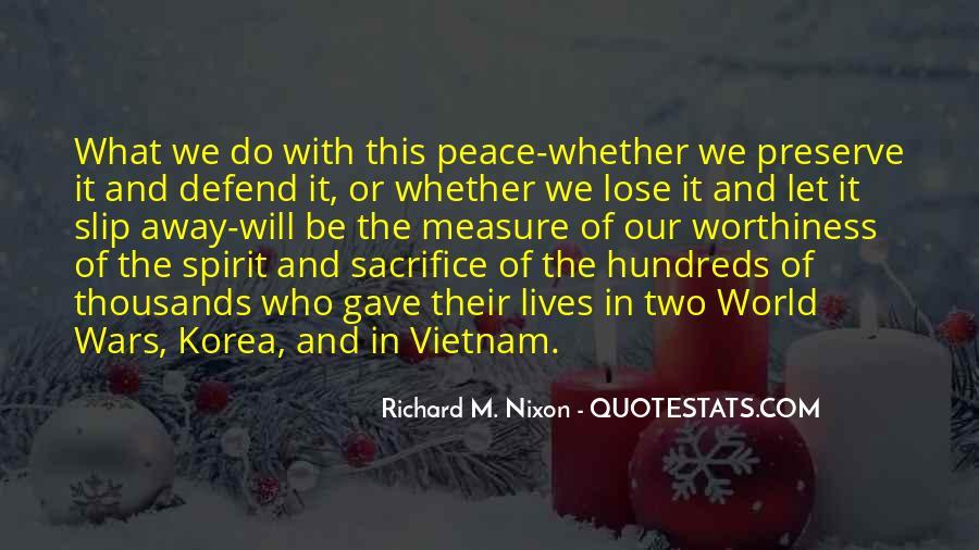 War And Sacrifice Quotes #1249065