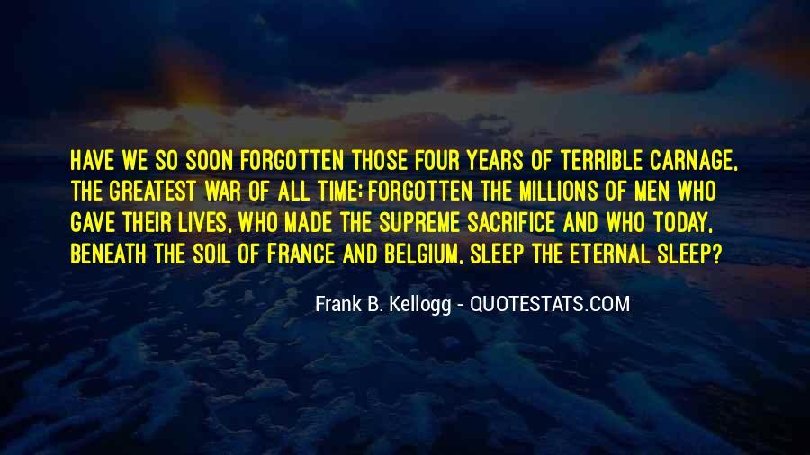 War And Sacrifice Quotes #1284253