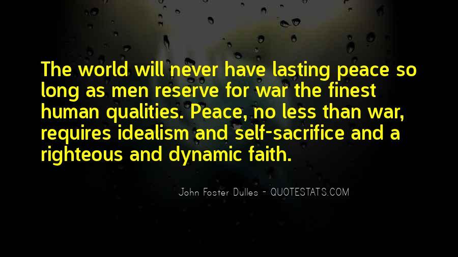 War And Sacrifice Quotes #129049