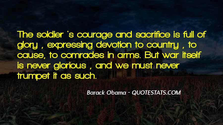 War And Sacrifice Quotes #16253