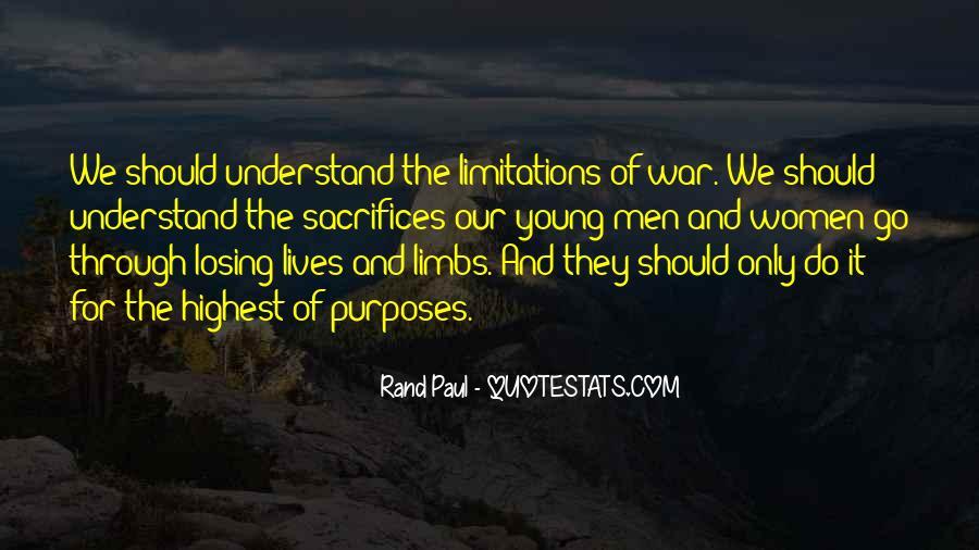 War And Sacrifice Quotes #1637567