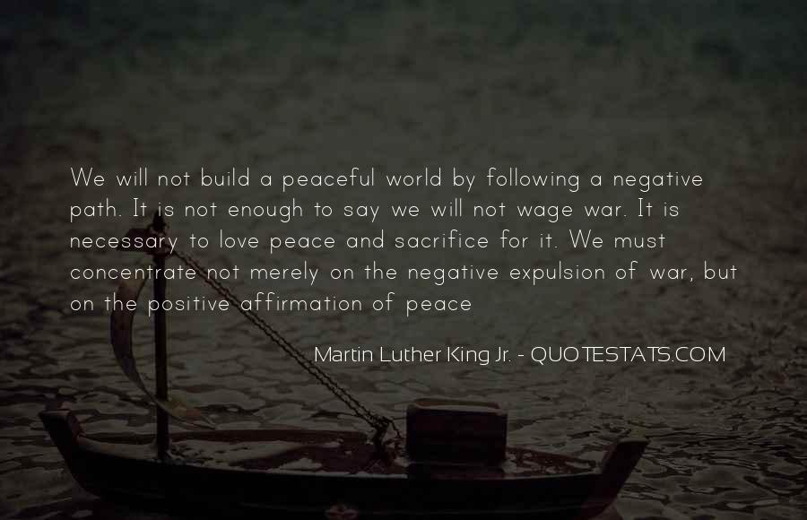 War And Sacrifice Quotes #35976