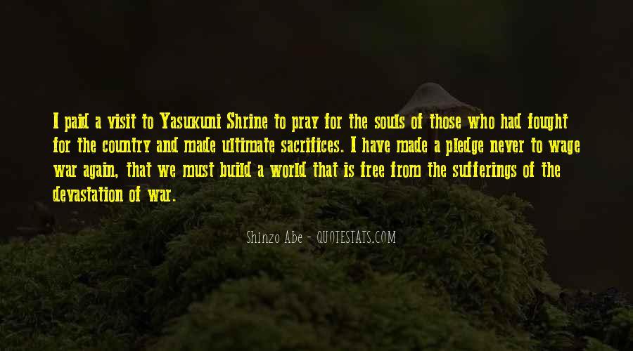 War And Sacrifice Quotes #600693