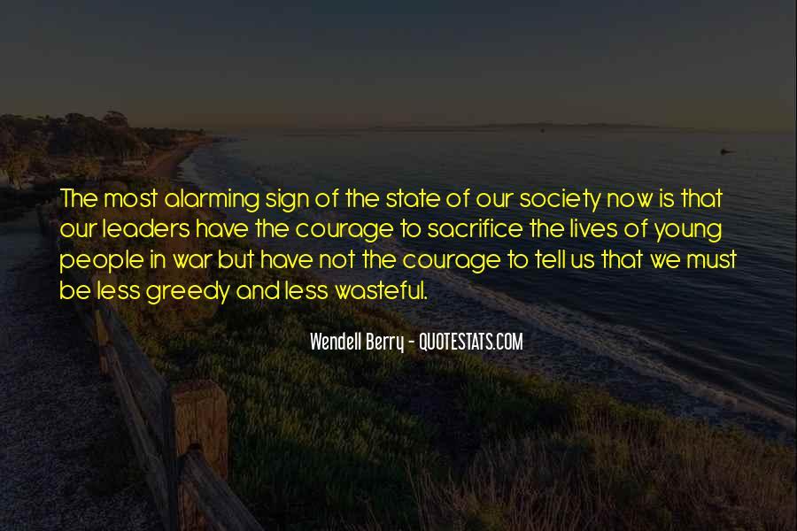 War And Sacrifice Quotes #964611
