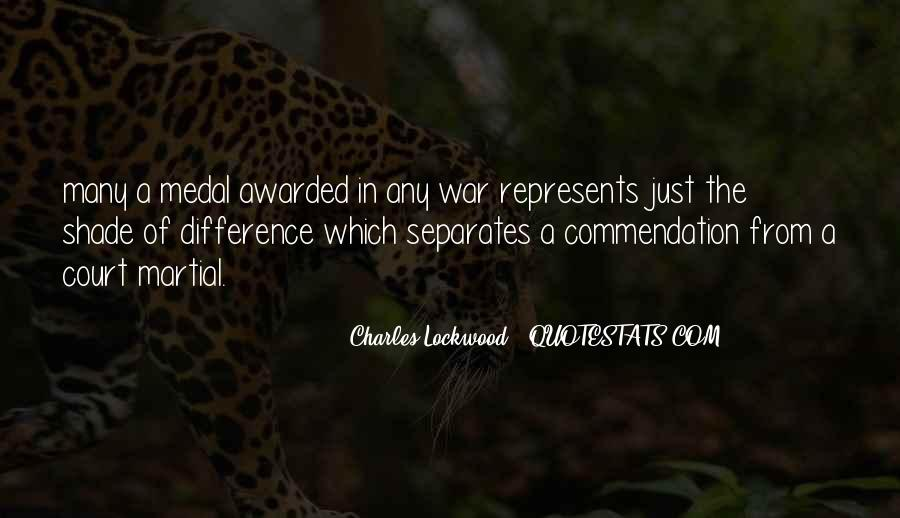 War Medal Quotes #1424038