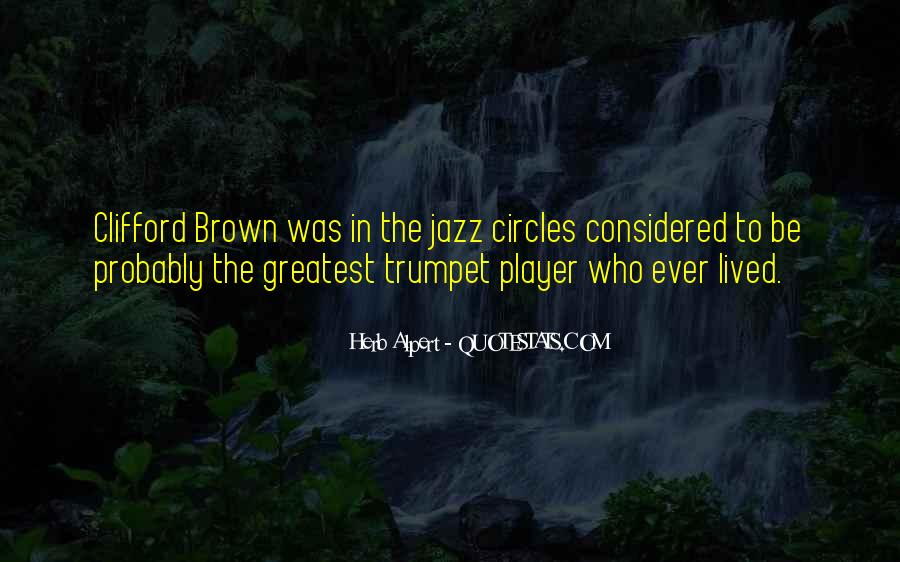 Quotes About Clifford Brown #1650669