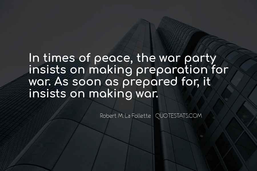 War Preparation Quotes #237490