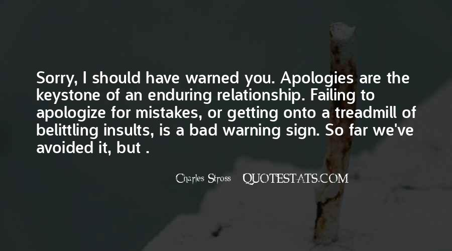Warned You Quotes #263664