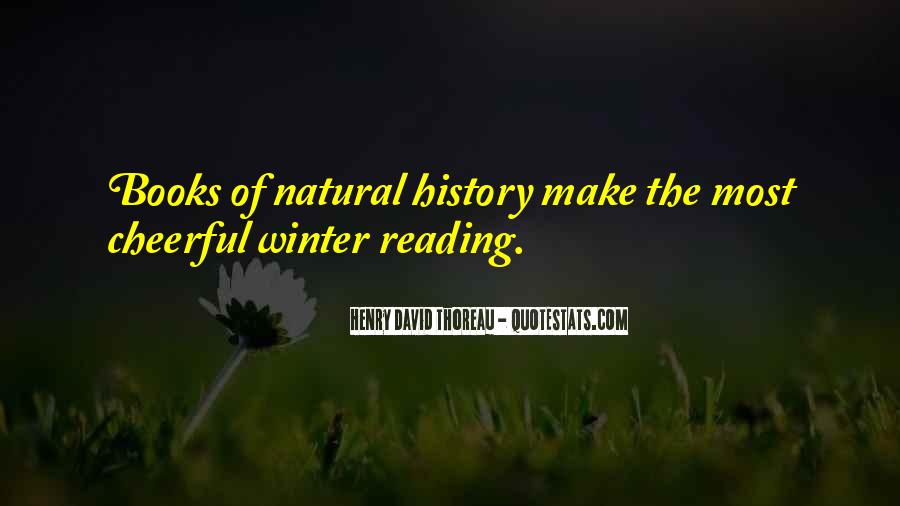 Quotes About Natural History #836021