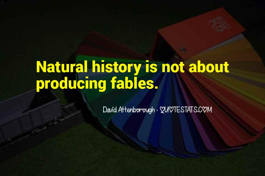 Quotes About Natural History #945429