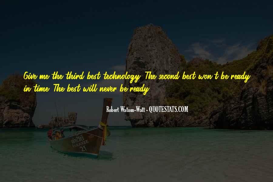 Watson Watt Quotes #402167