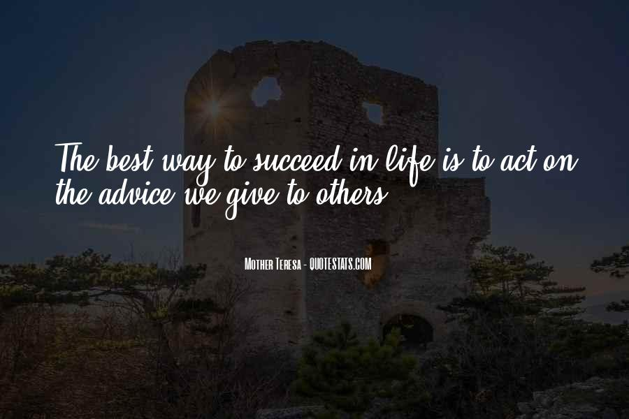 Way To Success In Life Quotes #1194185